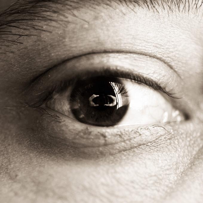 Auto portrait dans mon oeil