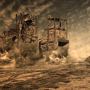 Immeubles en démolition